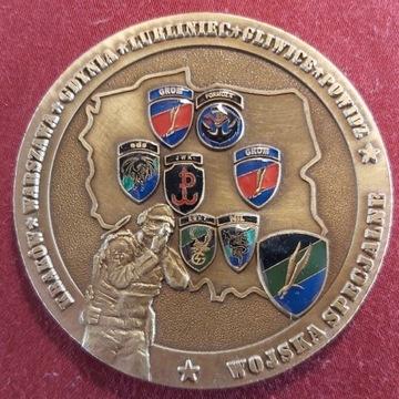 Coin Medal Pamiątkowy Wojsk Specjalnych 70 mm