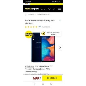 Samsung A20e nowy smartfon