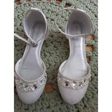 Buty na komunię białe r.35