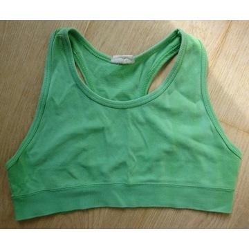 Zielony top biustonosz trening siłownia fitness