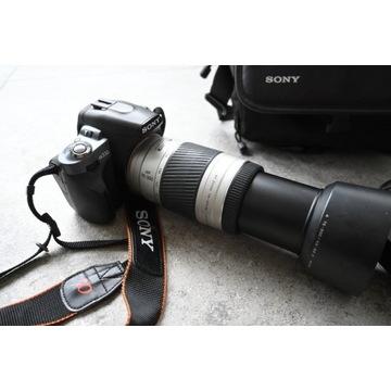 Lustrzanka Sony Alpha 330 zoom 18-55mm + 75-300mm