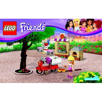 LEGO Friends Stephanie Pizzeria 41092 +Olivia+Pies