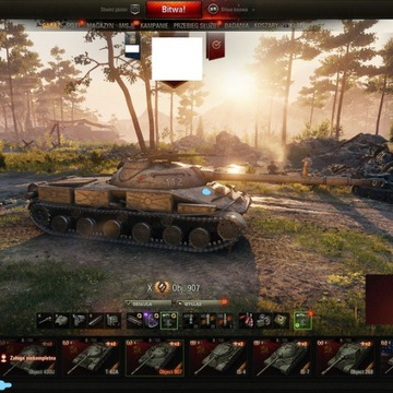 Konto World of Tanks +1500wn8 Ob 907