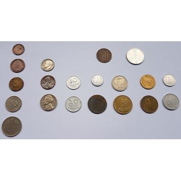 zestaw monet 20 szt różne