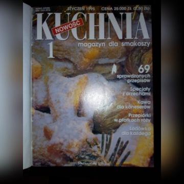 Miesięcznik Kuchnia - oprawione roczniki 1995-1998
