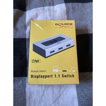 Displayport 1.1 przełącznik 2 porty