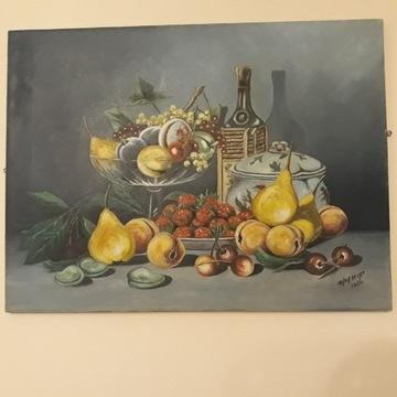 Obraz olejny,antyk 1932