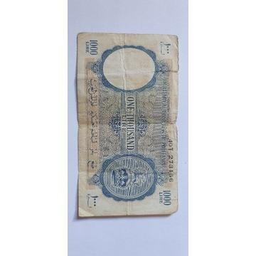 1000 lira lir tripolitania UNIKAT Angielska Koloni