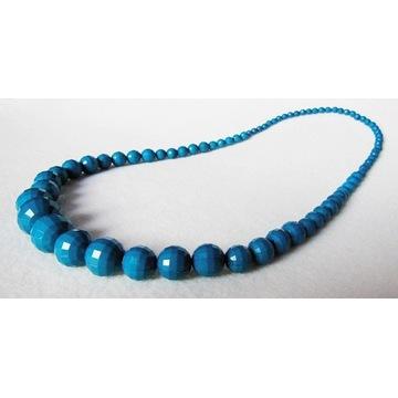NOWY H&M naszyjnik korale turkusowy niebieski