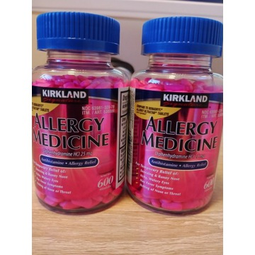 KIRKLAND ALLERGY Difenhydramina 25mg 600 szt USA