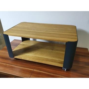Zestaw stolik + wieszak prawdziwe drewno