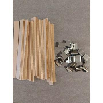 Knot drewniany + blaszki