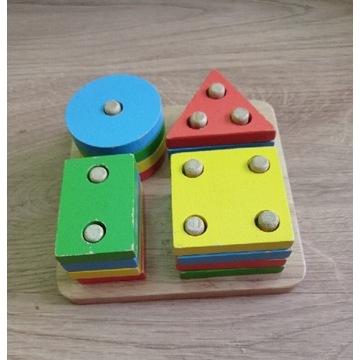 BIGJIGS sorter kształtów drewniany Montessori SI