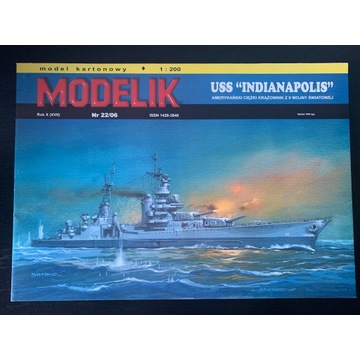 Modelik USS Indianapolis  -  skala 1:200