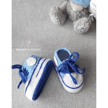 Buciki ręcznie robione trampki dla niemowlęcia