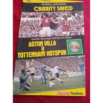 Program  Aston Villa - Tottenham  (Charity Shield)