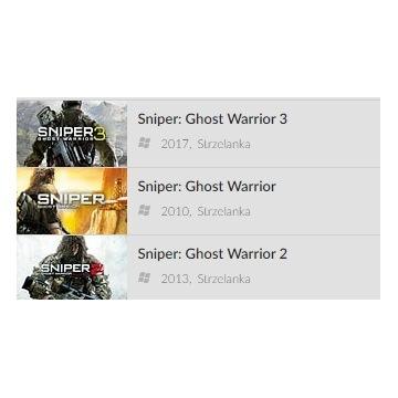 Sniper: Ghost Warrior 1+2+3 - GOG