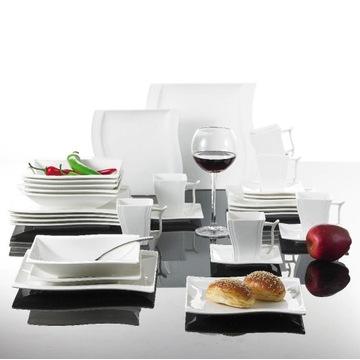 Zestaw talerzy obiadowych, serwis obiadowy na 6 os