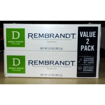 PASTA REMBRANDT DEEPLY WHITE PEROXIDE DWU-PACK