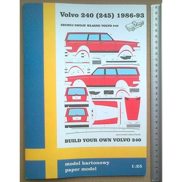 Volvo 240 kombi (245) model papierowy modelarz