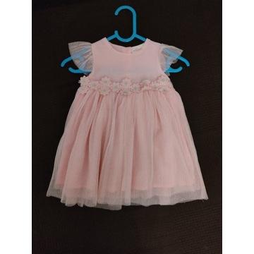 Nowa sukienka wizytowa, na chrzest rozm. 74
