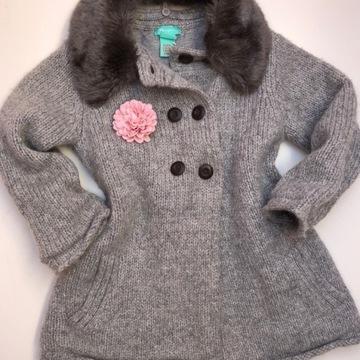 MONSOON elegancki płaszczyk sweter 92