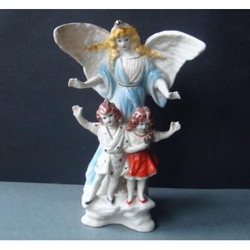 Anioł z dziećmi - Stara figurka