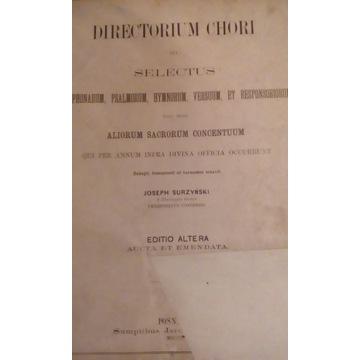 DIRECTORIUM CHORI -wybór antyfon -czyt.opis