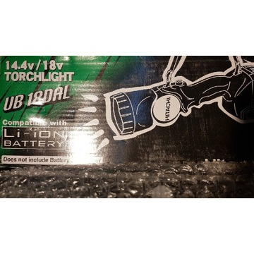 Hitachi koki Lampka na akumultor 14.4v 18v Nowa