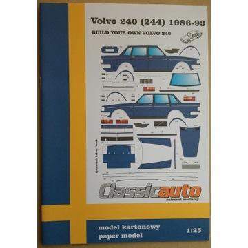 Volvo 240 sedan (244) model papierowy modelarz