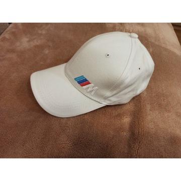 Czapka z daszkiem biała logo samochodowe BMW