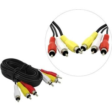 NOWY Kabel Hama 3Cinch/3Cinch RCA 2m 75 ohm 6wtyk