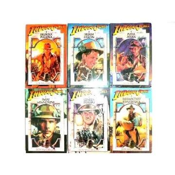 Indiana Jones, książki, zestaw 6szt, wyd. I