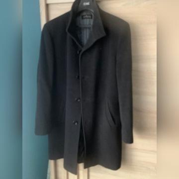 Płaszcz męski czarny długi rozmiar 52