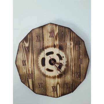 Zegar drewniany Loft Industrial