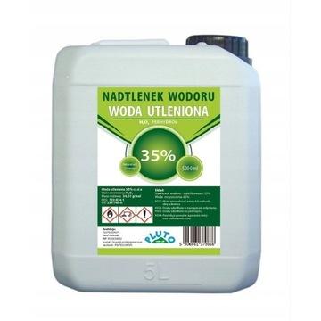 Woda utleniona 35% PERHYDROL Nadtlenek Wodoru 5l