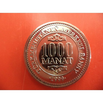 TURKMENISTAN 1000 MANAT 1999