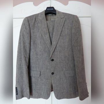 Mexx lniany szary garnitur krój standarowy roz 46