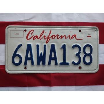 Tablica rejestracyjna USA California