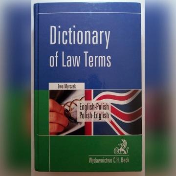 Dictionary of Law Terms EN-PL, PL-EN Myrczek