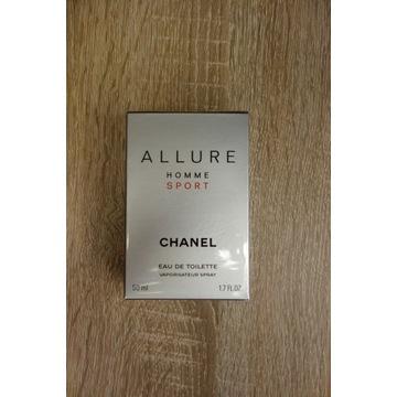CHANEL Allure Homme Sport - 50ml EDT, NOWE, FOLIA
