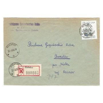 Gołańcz (Wągrowiec) - Koperty polecone 1965-79