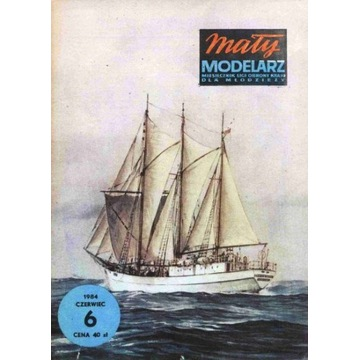 Mały Modelarz 1984 84 Statek Zawisza Czarny