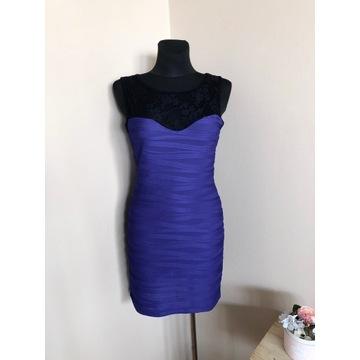 Quiz - fioletowa sukienka ołówkowa - rozmiar 40