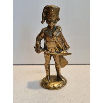Stara Mosiężna figurka żołnierz #3