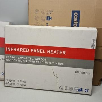 Panel grzewczy na podczerwień 600W 60x90cm