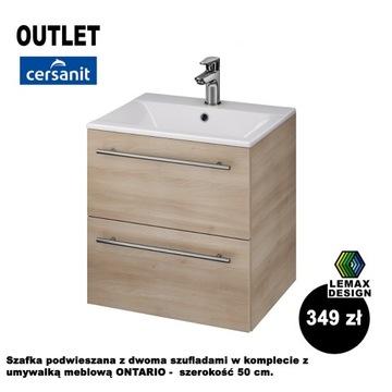 Umywalka z szafką wiszącą Cersanit Ontario 50 cm