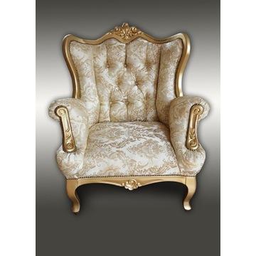 Fotel stylowy ludwik. Producent