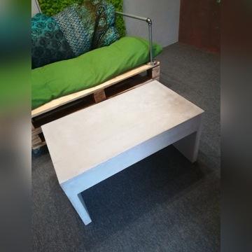 Ława betonowa - stolik. Beton, mikrocement, loft