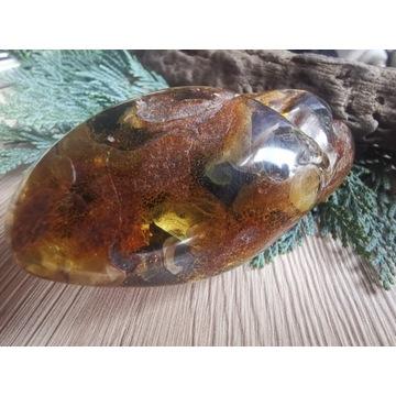 Bryłka bursztynu bałtyckiego piękna 85 gram
